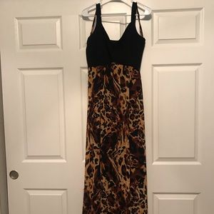 Long formal gown with cheetah print